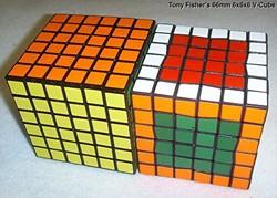 Tony Fisher's 66mm 6x6x6 V-Cube ( Rubik's Cube type puzzle ) | 680 x 487 jpeg 83kB