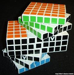 Tony Fisher's Siamese 6x6x6 V-Cubes ( Rubik's Cube type ... | 680 x 688 jpeg 95kB