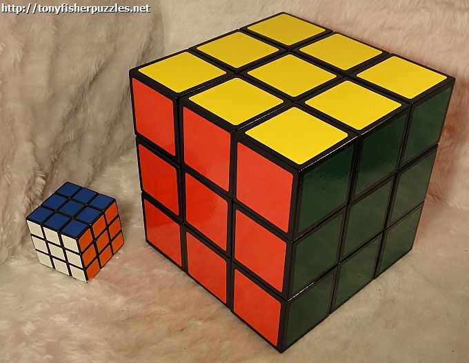 tony fisher 39 s signed giant rubik 39 s cube 18cm 7 inch ebay. Black Bedroom Furniture Sets. Home Design Ideas