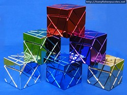 All six Mefferts Metalised Ghost Cube Puzzles