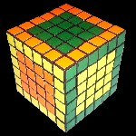 66mm 6x6x6 Rubik's Cube by Tony Fisher