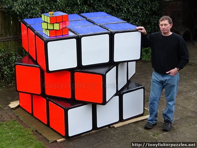 Tony Fisher's Largest Rubik's Cube in the world