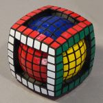 Tony Fisher's 7x7x7 Ball in a Cube Puzzle