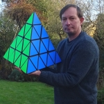 Tony Fisher's Giant Master Pyraminx Puzzle