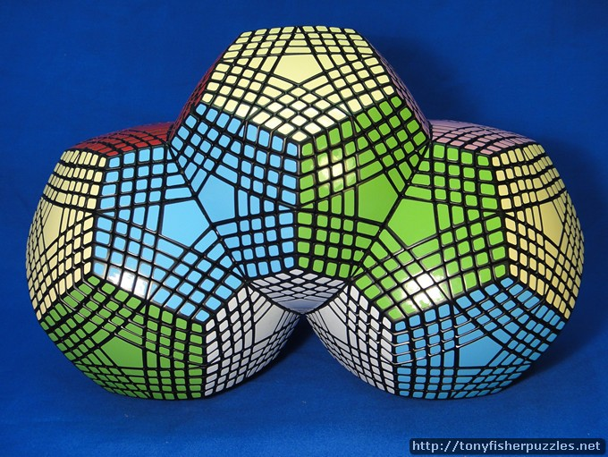 Tony Fisher's Triple Fused Petaminxes Puzzle