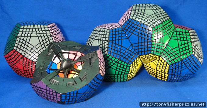 Tony Fisher's Triple Fused Petaminxes & Open Petaminx Puzzle