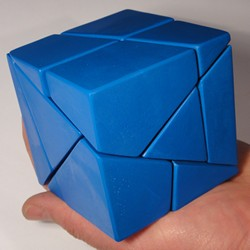 Blue Golden Cube