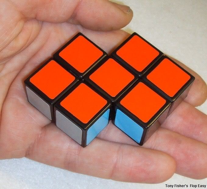 Tony Fisher's Flop East puzzle made from  a Floppy Cube