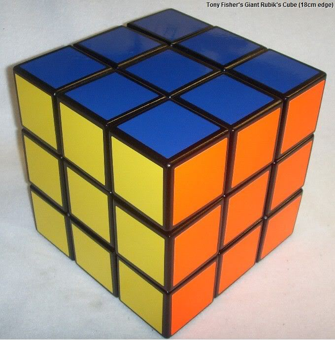 Tony Fisher's 18cm 3x3x3 Rubik's Cube