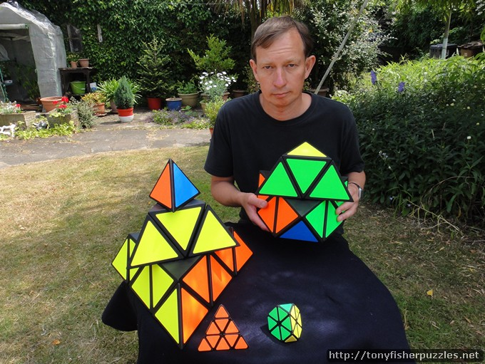 Tony Fisher's Giant Tetraminx and Pyraminx Puzzles