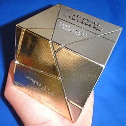 Gold and Silver Golden Cube
