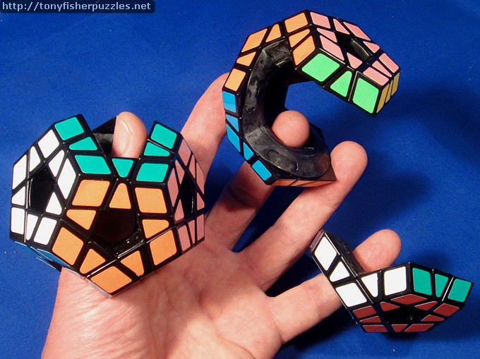 Tony Fisher's three Holey Megaminx transformations