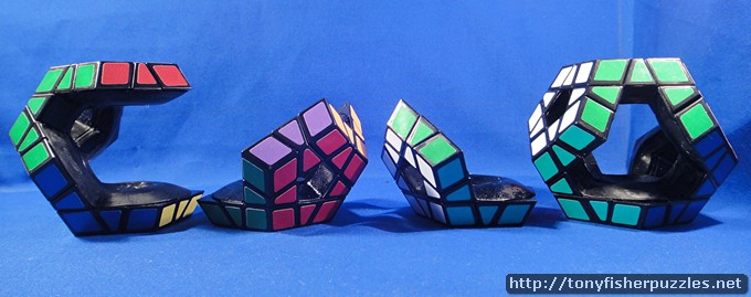 Tony Fisher's four Holey Megaminx transformations
