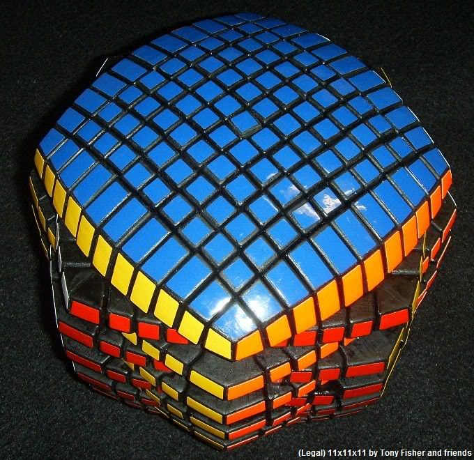 Tony Fisher & Friend's 11x11x11 Rubik's Cube