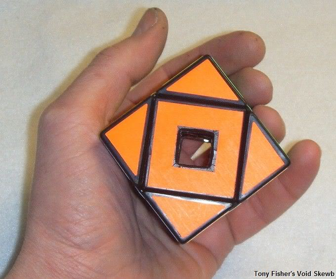 Tony Fisher's Void Skewb / Holey Skewb